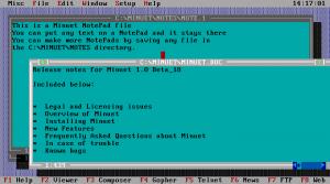 Minnesota Internet Users Essential Tools (MINUET)